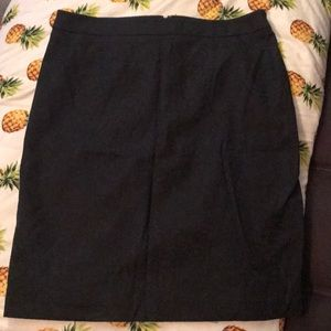 Black Apt 9 pencil skirt with lace pattern